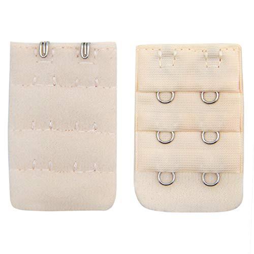 YOCheerful Women Soft Comfortable Bras Strap 2x3 Hooks Extender Strap Adjustable Extension Strap(Beige, A)