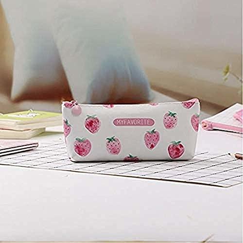 Xjzspw Kawaii Lápiz Caja de lápiz de Estampado Fresco pequeño Caja de lápiz Bolsa de lápiz Suministros de Estudiante Papelería de papelería
