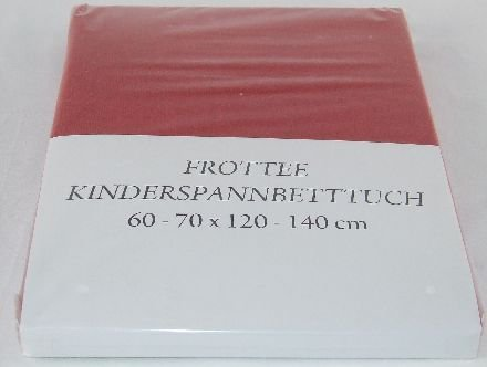 Hoeslaken badstof 60-70x120-140, rood kinderhoeslaken 3 stuks