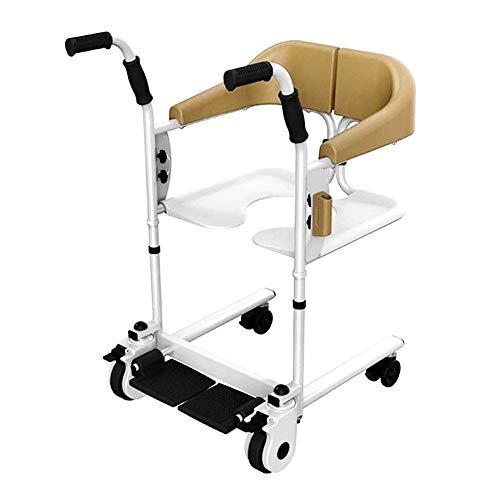 XWX Multifunktionale Rollstuhl-Aufzug Bad Und Toilette Stuhl Höhenverstellbar Beweglicher Handdruck for Ältere Fraktur (Color : A)