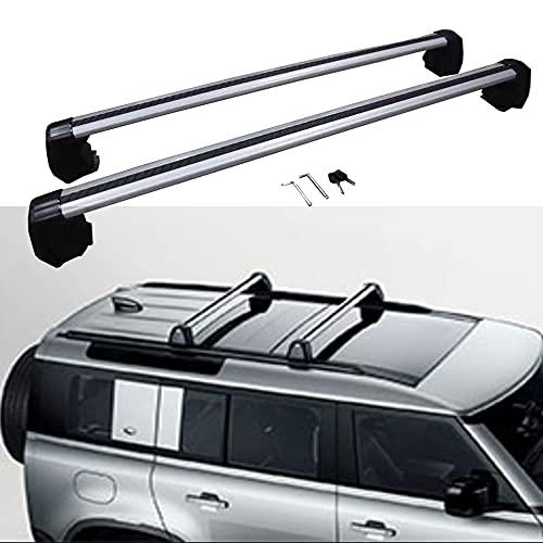 2 unids barra cruzada barras de techo para Land Rover Defender 110 L851 4D 2020 2021 2022 rieles de equipaje