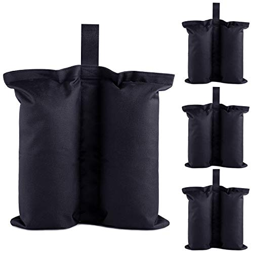 Ey Canopy Weight Bags Set of 4, Sand Bags,Industrial Grade Weights Bags for Pop up Canopy Tent, Patio Umbrella Leg Weights Bag for Outdoor Furniture & Sun Shelter