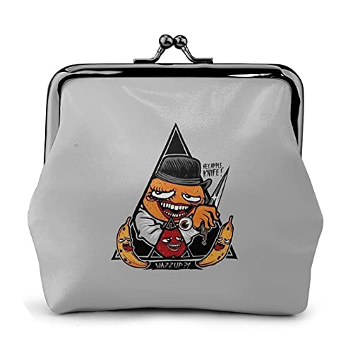 Un reloj de cuero con hebilla de flor naranja monedero retro bolsa de correo beso cerradura cartera regalo bolsa cosmética estuche clave versatilidad