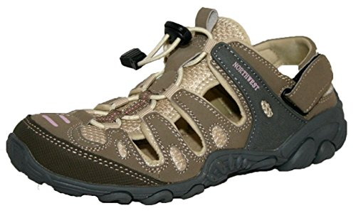 Northwest Territory Atlanta sandali da trekking per donne, ragazze, bambine, blu (Blue/Lime), 41