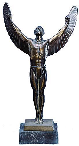 Moll Pokale Ikarus Skulptur Bronze pat. oder vergoldet 61905 mit oder ohne Gravur (Bronze pat.)