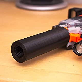 """Dart Gun """"Stryfe"""" Barrel Extension Upgrade Improve Accuracy for NERF Make Every Dart Count"""