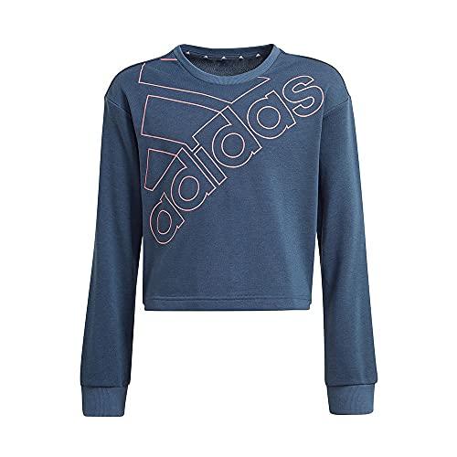 adidas G Logo Swt, Suéter pulóver Niñas, Crew Navy/Hazy Rose, 13 Anni