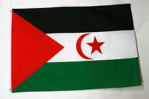 AZ FLAG Flagge WESTSAHARA 90x60cm - DEMOKRATISCHE ARABISCHE Republik Sahara Fahne 60 x 90 cm - flaggen Top Qualität