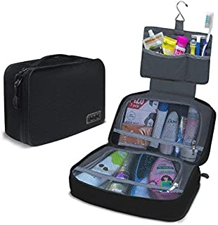 Dot&Dot Hanging Toiletry Bag for Men, Women and Kids - Organizer Case for Cosmetic and Grooming Kit, Travel Accessories an...