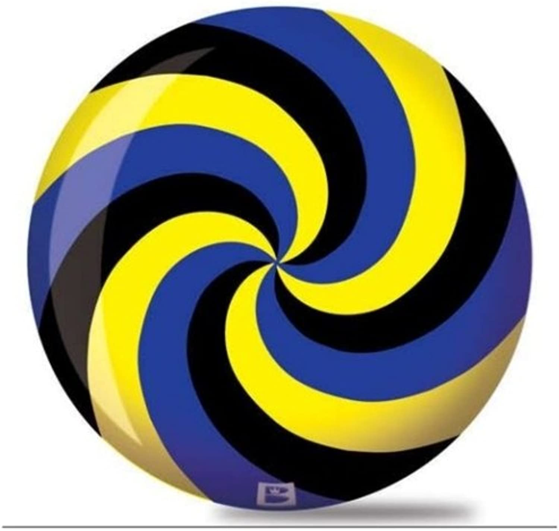 Brunswick Spiral Viz A Ball Bowling Ball Black blueee Yellow
