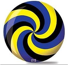 Brunswick Spiral Viz A Ball Bowling Ball- Black/Blue/Yellow (12lbs)