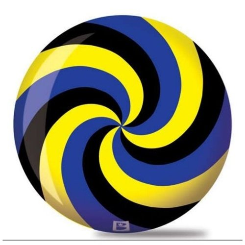 Brunswick Spiral Viz A Ball Bowling Ball- Black/Blue/Yellow (14lbs)