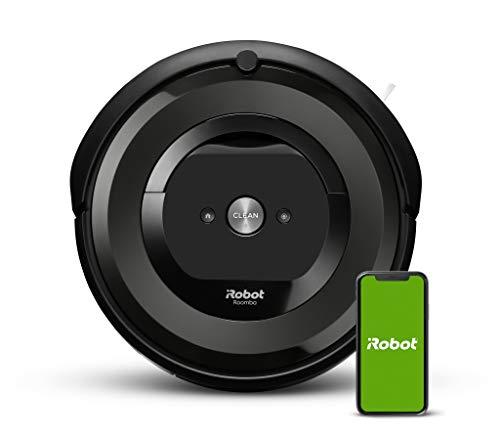 iRobot® Roomba®e6192 - Aspirateur robot connecté avec 2extracteurs en caoutchouc multi-surfaces - Idéal pour les animaux - Suggestions personnalisées - Compatible avec les assistants vocaux
