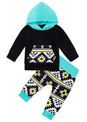 Kleinkind Infant Cute Multicolor Print Hoodie Set Baby Boys Langarm Hoody Tops Trainingsanzug 12-18 Monate Kelims Tasche Lange Hose Grau Zweiteilige Outfit Kleidung Anzug f¨¹r l?ssige Festivalferien