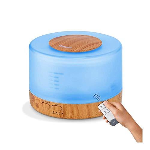 Humidificadores Humidificador de 500 ml Difusor de Aceite Esencial de Control Remoto Humidificador de Niebla fría EU Reino Unido Humidificador de Aire con Enchufe (Color: Blanco Tamaño: Rein