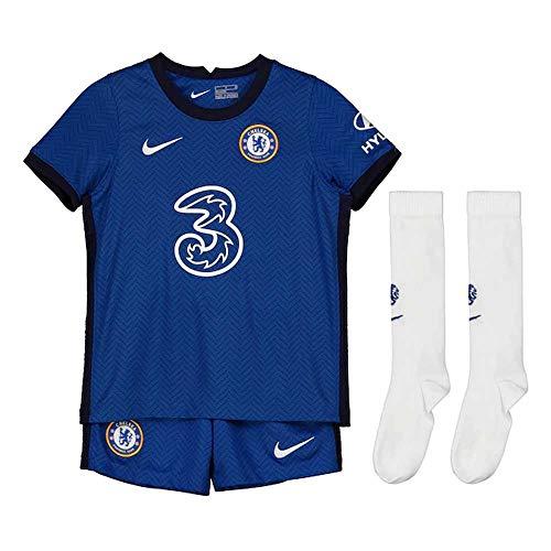 NIKE CFC LK NK BRT Kit Hm Football Set, Unisex niños, Rush Blue/White Full Sponsor, L