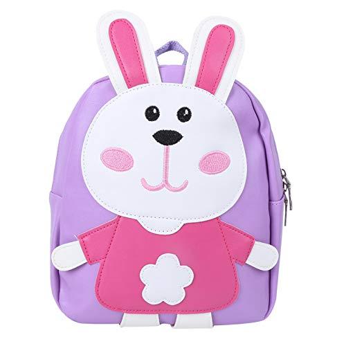 Borsa per la scuola del bambino, borsa per la scuola materna, zaino in cartone animato in PU, custodia per alimenti per bambini studio di viaggio(Violet)
