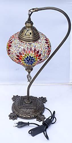 Nueva lampara turca grande : bola 18 cm de diametro x 49 cm de altura, mosaico turco original - desmontable- electrica- kenta artesanias