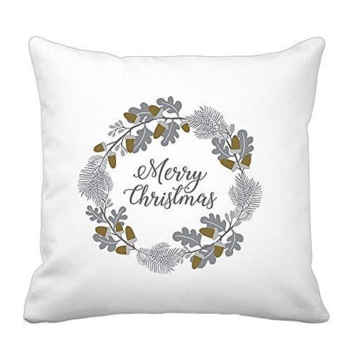 Krasilnikoff kussen decoratief kussen sierkussen Kerstmis goud acorn esdoorn goud 50x50cm