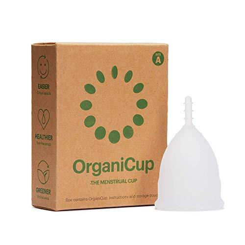 Copa menstrual OrganiCup - Talla A/S - Ganadora del los AllergyAwards 2019 - almohadillas y tampón alternativo - Silicona suave, flexibe y reutilizable de grado medicinal