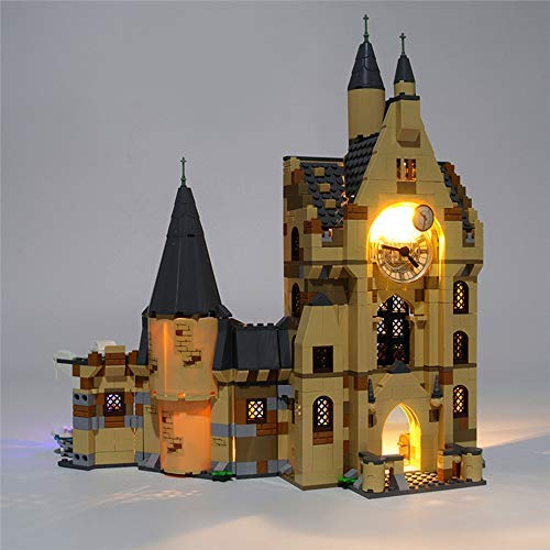 EDCAA LED-Beleuchtungsset für Harry Potter und den Feuerkelch Hogwarts Clock Tower Baukasten Kompatibel mit Lego 75948 (Nicht im Modell enthalten)