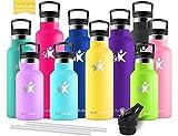 KollyKolla Bottiglia Termica per Acqua in Acciaio Inox, 350ml Senza BPA, Borraccia Sportiv...