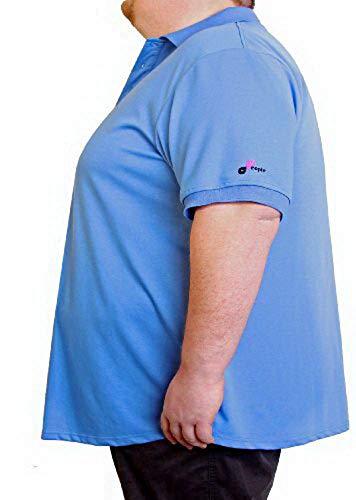 People Clothes – Polo à manches courtes pour homme respirant en Grandes Pointures – universalgöße de 6 XL jusqu'à 8 XL - Bleu - XXX-Large