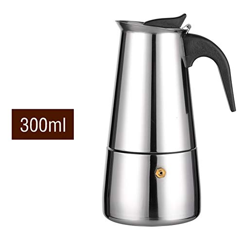 Mjiands Espressomaschine 2/4/6 Tassen Edelstahl Mokka-Kanne Espressokanne Espressomaschine 100/300 / 200ML