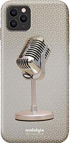 SBS - Carcasa rígida con diseño de micrófono de los años 60 para iPhone 11 Pro MAX