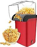 Electrodomésticos máquina automática de palomitas de maíz Máquina Máquina de hacer palomitas de maíz saludable sin aceite para fiestas y niños fácil de limpiar rojo