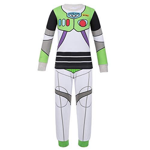 iiniim Conjuntos Pijama Niño Top y Pantalones Ropa de Dormir Algodón Ropa Interio rpara Niños Chicos (18 Meses a 8 Años) Blanco&Verde 7-8 años
