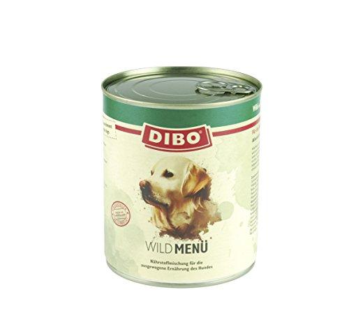 DIBO - MENÜ WILD, 800g-Dose mit Nudeln, Karotten und Kräutern, DIBO-Qualität