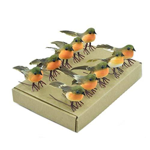 PUSTER 10 STÜCKE Robin Vogel Weihnachtsbaum Dekoration Handwerk Sehr Nette Künstliche Feder