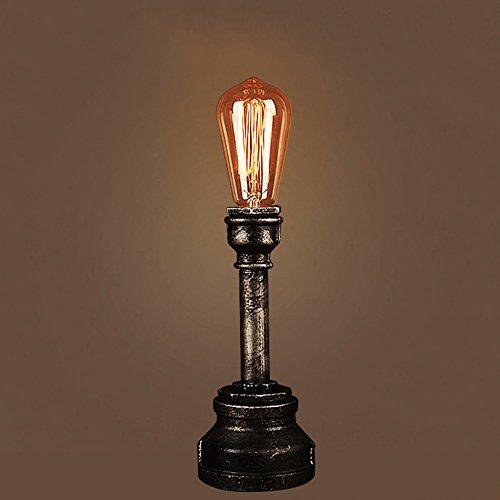 ZWL Lampe de table en fer, Retro Industriel Punk Pipe à Eau Métal Lampes de Bureau Chevet Table de Chevet Chambre Salon Café Bar Accueil Luminaire (Ampoules Non Inclus) fashion.z (style : #3)