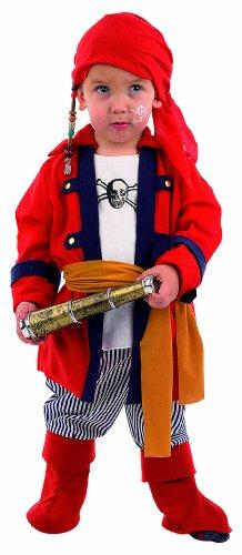 Limit Sport ms1024asu-mb253 – Baby Costume flibustiers 4 pièces Pirate (Serviette de Veste avec Chemise Pantalon de Corset avec Bottes)
