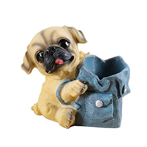 Yooce Puppy Dog Pencil Holder Pet Pen Cup Desk Organizer Pug