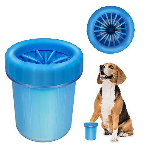 Dog Paw Cleaner, Portable Pet Cleaning 360º Silicone Washer Cup (for Small and Medium Breed Cats...