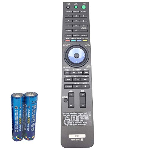 RMT-B101A Remote Control for Sony Blu-ray Disc Player DVD BDP-S300 BDP-S301 BDP-S500 RMT-B100A BDP-S2000ES by QINYUN