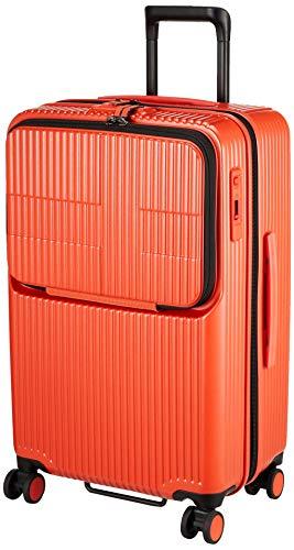 [イノベーター] スーツケース グッドサイズ スリムトップオープン 多機能モデル INV60 保証付 62L 65 cm 4kg オレンジピール
