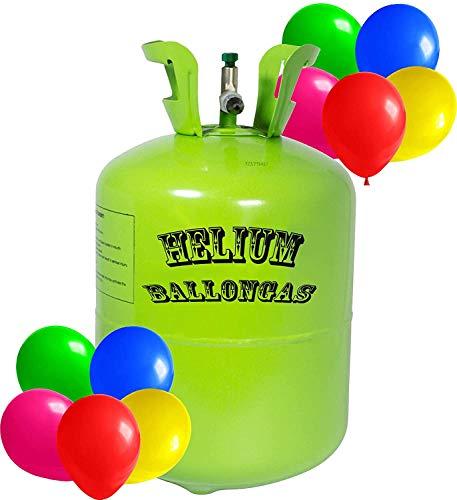 Premium Helium Ballongas Tank L, XL & XXL - 1x Heliumflasche für 20,30 oder 50 Balloons à 23cm Helium Luftballon Gas (30 Ballons à 23cm)