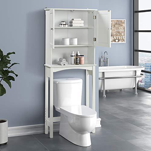 Tdbest Bathroom Cabinet Over Toilet Freestanding Bathroom Furniture Bathroom Storage Bathroom Floor Cabinet, Over The Toilet Storage White