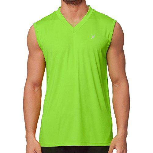 CFLEX Herren Sport Shirt Fitness Muscle-Shirt Sportswear Collection - Electric Green XL