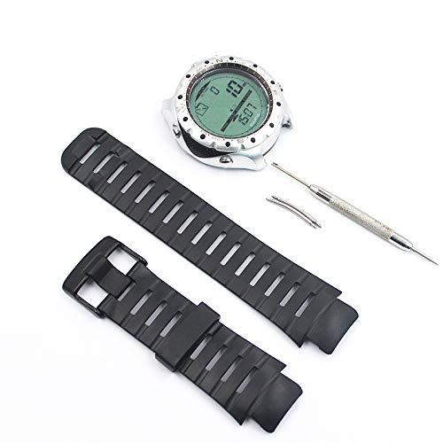 CFGH Suunto X-Lander Herren-Armbanduhr mit Metallschnalle, Silikon Armband (schwarz)