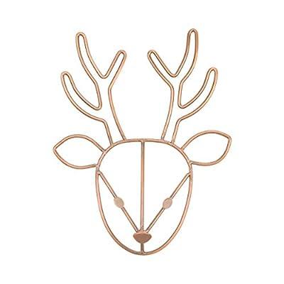 NoJo Deer Shaped Wire Nursery Wall Decor, Finish, Copper