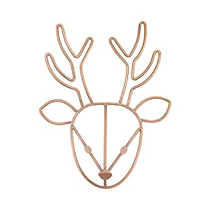 NoJo Deer Shaped Wire Nursery Wall Decor, Finish, Copper