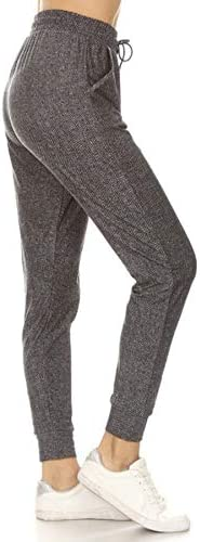 Leggings Depot JGAX S598 3X Office Date Print Jogger Pants w Pockets 3X Plus product image