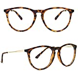 Blue Light Glasses for Women/Men - YAROCE Anti Eye Strain Computer Blue Light Blocking Glasses, Fashion Blue Blocker Glasses Round Eyeglasses Frame, Filter UV Ray Gaming Glasses - Tortoise