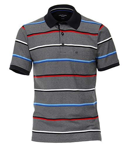CASAMODA Polo-Shirts gestreift Mittelblau M
