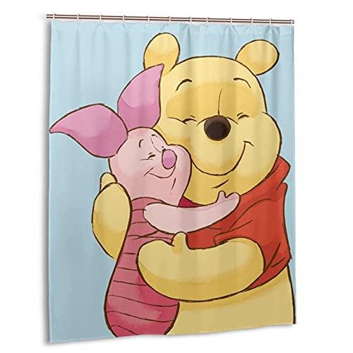 Winnie The Pooh Duschvorhänge Badezimmer Badvorhang 60 x 72 in Dekor Polyester wasserdichter Stoff / mit 12 Kunststoffhaken