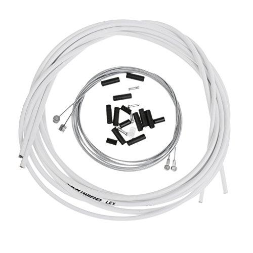 Baoblaze Fahrradbremse Kabelsatz Fahrrad Vorne-Hinten Innen Außen Bremsdrähte - Weiß